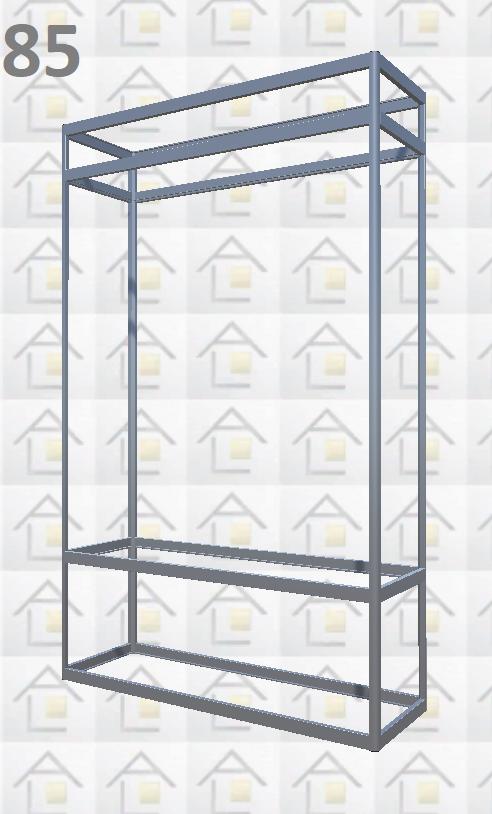 Конструктор (каркас) витрины № 85 из алюминиевого профиля (2578)1449,2576,2721