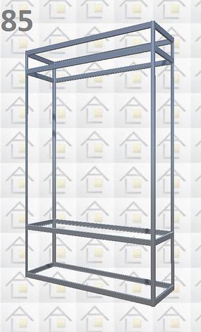 Конструктор (каркас) витрины № 85 из алюминиевого профиля (2578)1449,2576,2721, фото 2