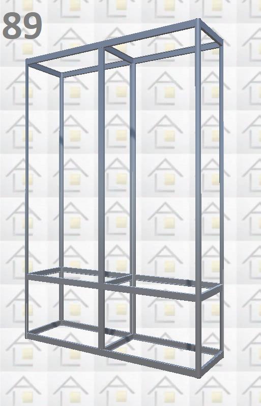 Конструктор (каркас) витрины № 89 из алюминиевого профиля (2578)1449,2576,2721