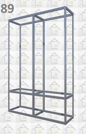 Конструктор (каркас) витрины № 89 из алюминиевого профиля (2578)1449,2576,2721, фото 2