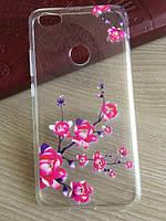 Силиконовый чехол со стразами и цветочным принтом для Xiaomi Redmi Note 5A, фото 1