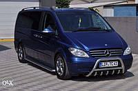 Защита переднего бампер (кенгурятник, бугель, дуга) Mercedes Viano 2004+ г.в.