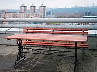 Стол  садовый с коваными элементами 1,5м, фото 1