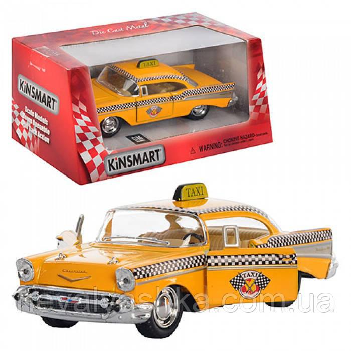Kinsmart металлическая инерционная машинка Chevrolet Bel Air Такси, Кинсмарт KT5360W 002365