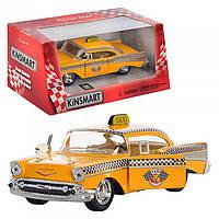 Kinsmart металлическая инерционная машинка Chevrolet Bel Air Такси, Кинсмарт KT5360W 002365, фото 1