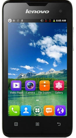Смартфон ORIGINAL Lenovo A396 (0.25Gb+0.5Gb)Spreadtrum SC8830A Quad Core Android 2.3.5 (Black), фото 2