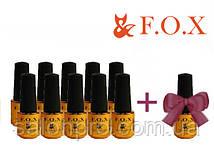 Набор гель-лаков FOX 10+1, 6 мл