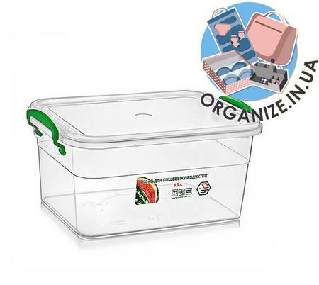 Прямоугольный контейнер пищевой с ручками 3,5 л