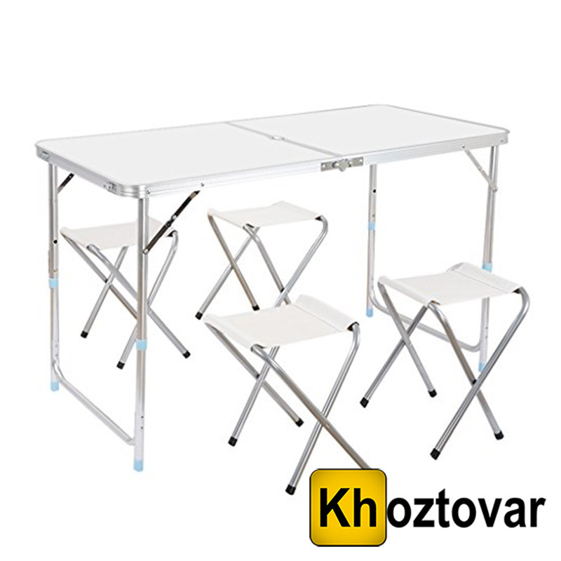 Складной туристический стол Folding Table Convenient to Take   4 стула