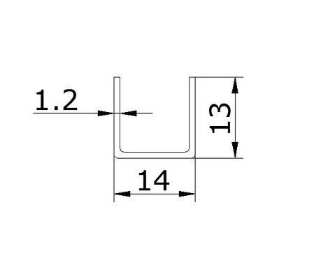 Профиль нержавеющий 2,5 м, фото 2