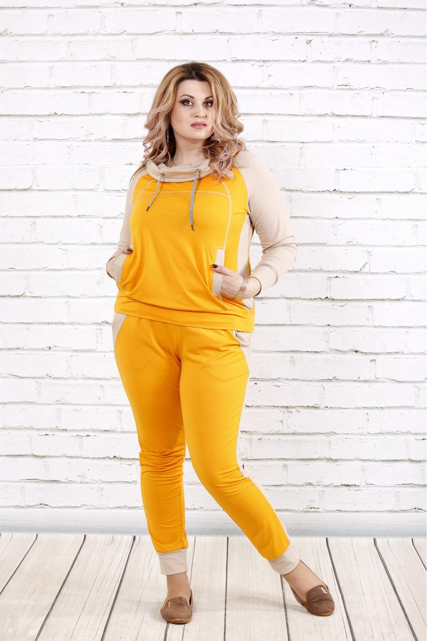 15c5962670a33 Желтый спортивный костюм для полных девушек - V Mode, прямой поставщик  женской одежды в Харькове