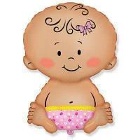 Малыш девочка (47х70 см) (надут гелием)