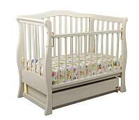 Детская кроватка Laska-М VIVA Glamour ваниль