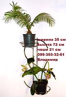"Подставка для цветов ""Доллар"" на 2 чаши, фото 1"