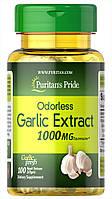 Чеснок в капсулах, Garlic 1000 mg, Puritan's Pride, 100 капсул