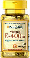 Витамин Е, Vitamin E-400 IU, Puritan's Pride, 100 капсул, фото 1