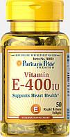 Витамин Е, Vitamin E-400 IU, Puritan's Pride, 50 капсул