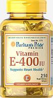 Витамин Е, Vitamin E-400 IU, Puritan's Pride, 250 капсул