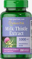 Расторопша экстракт (Силумарин), Milk Thistle 1000 mg (Silymarin), Puritan's Pride, 180 капсул