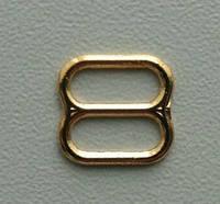 Регулятор бельевой для бретели, золото метал 8мм