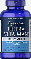 Витамины для мужчин Ultra Vita Man, Puritan's Pride, 180 капсул, фото 1