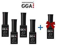 Набор гель лаков GGA Professional 4 + 1 в Подарок!