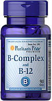Комплекс витаминов группы Б и витамин В-12, Vitamin B-Complex and Vitamin B-12, Puritan's Pride, 90 капсул