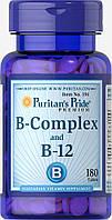 Комплекс витаминов группы Б и витамин В-12, Vitamin B-Complex and Vitamin B-12, Puritan's Pride, 180 капсул