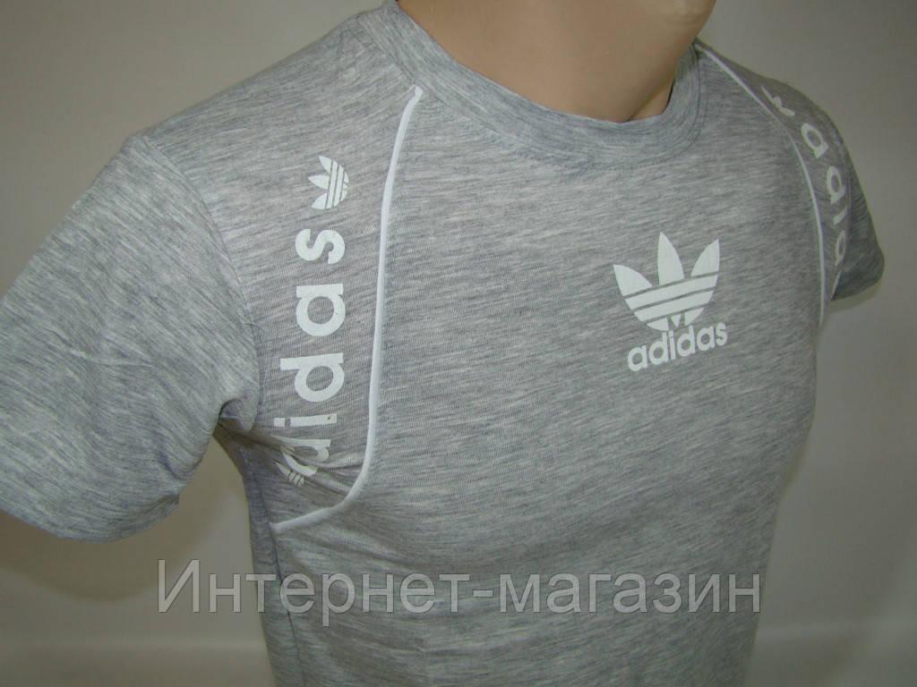 Футболка подростковая мужская Adidas Сингапур (M) код 5064