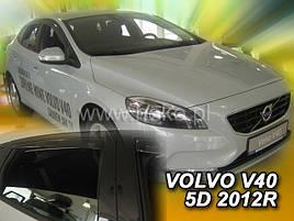Дефлекторы окон (ветровики)  Volvo V40 2012 -> 5D 4шт (Heko)