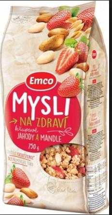 Мюсли Emco Mysli na Zdraví Jahody a mandle 750 г