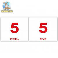 "Карточки мини украинско-английские ""Числа/Numbers"""