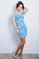 Нежное Женское платье из итальянского гипюра 42-60р