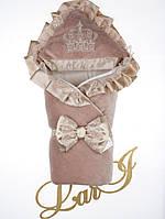 """Демисезонный конверт-одеяло """"Очарование"""", молочный шоколад"""