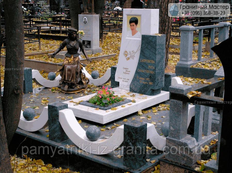 Памятник из мрамора № 72