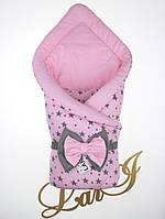 Демисезонный конверт-одеяло Звездопад, розовый