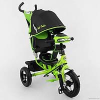 Велосипед детский трехколесный, надувные колеса+фара Бест Трайк 6588B, Best Trike  зеленый