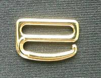 Регулятор бельевой для бретели, застежка-крючок золото метал 20мм
