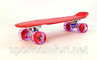 Пенні борд Penny led Wheel Fish 22 дюйма (червоний)