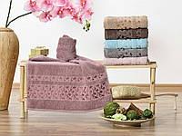 Банные махровые полотенца 6 шт. в упаковке (Турция)