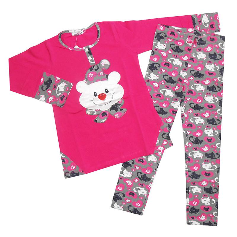 Пижама для девочек трикотаж 116-134 (6-9р) 7227-3