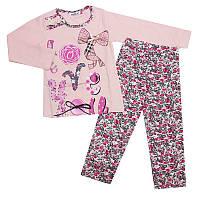 Пижама для девочки трикотаж 92-110 (2-5 лет) 7586-2