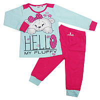 Пижама для девочки трикотаж 92-110 (2-5 лет) 7588-2