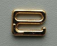 Регулятор бельевой для бретели, застежка-крючок золото метал 10мм