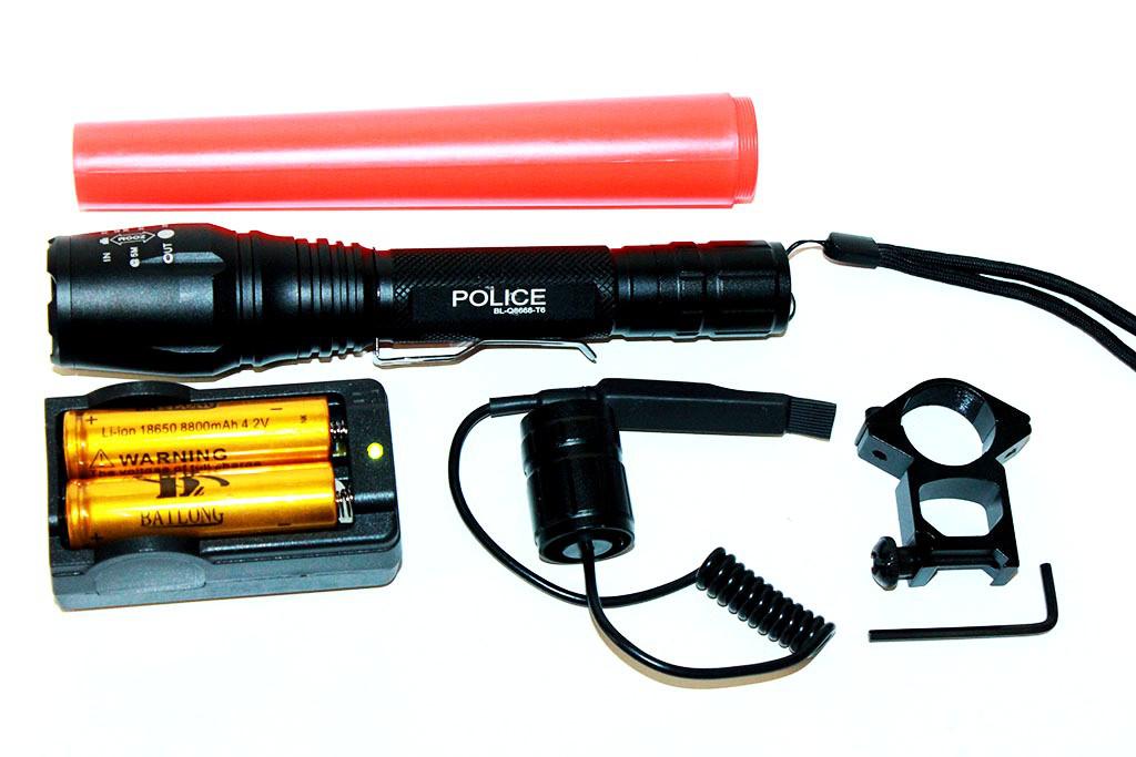Фонарик мощный тактический Police Q-8668