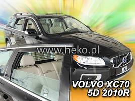 Дефлектори вікон (вітровики) Volvo XC 70 2007 -> 5D 4шт (Heko)