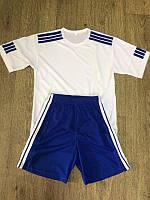 Форма футбольная юниорская (бело- синяя , р. 40)