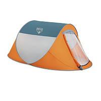 Палатка для отдыха оранжевая 235*190*100 см ( палатка туристическая )