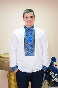 Вышиванка мужская  Волинські візерунки на длинный рукав Водограй 54 р. белая