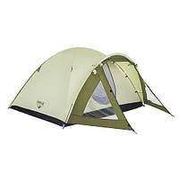 Палатка для отдыха зеленая (100+210)*240*130 см ( палатка туристическая )